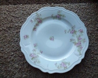 VINTAGE  O. & E. G.  Royal Austria Plate with Beautiful Pink Flowers