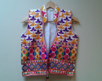 Indian colourful vest with tassels and size s-m