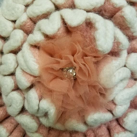 """Handbag Purse Felted Boiled Wool Handbag Purse Large Flower Design-""""Ships International"""" Email For Rates"""