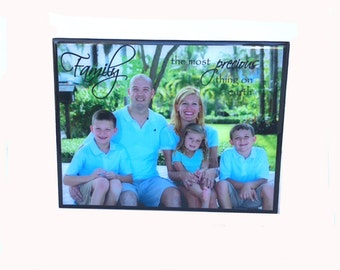 Picture on wood, photo wood block, photo display, wood block pictures, print on wood, plaque with saying, custom family plaque