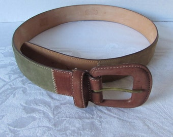 BELT Belt Multi color leather made in USA brown/ green/ rust/ coco Harken designer