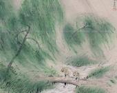 Japanese Fine Art Wall Hanging Scroll Painting Landscape Kakejiku – 1511062
