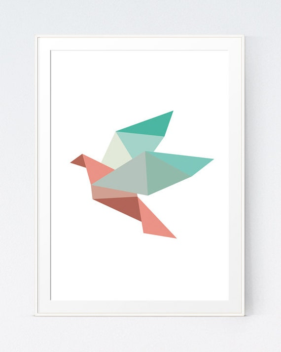 Items Similar To Origami Wall Art Bird Wall Art Origami
