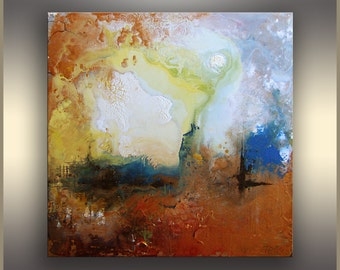 Metallic Original Painting Abstract Art Original Abstract Painting Copper Blue Acrylic Painting Abstract Painting ORIGINAL Art Painting