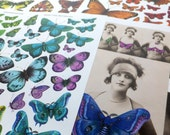 100s of BUTTERFLIES and FAIRIES in this Beautiful Paper Collage Sheet Collection! Spread your wings!