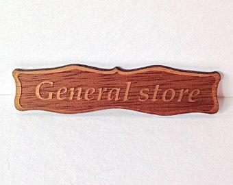 GENERAL STORE dollhouse handmade shop sign