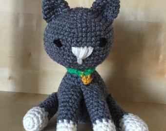 Plush Cat, Stuffed Cat, Toy Cat, Small Stuffed Animal, Custom Toy Cat, Baby Toy Cat, Amigurumi Cat