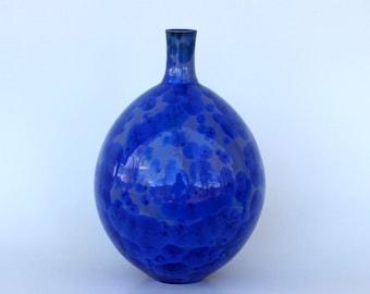 Cobalt Crystalline Vase