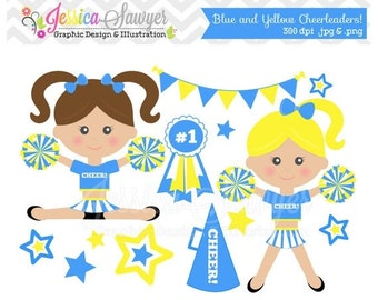 80% OFF - INSTANT DOWNLOAD cheerleader clip art, cheer clipart, cheerleader graphic for invitations, announcements, design