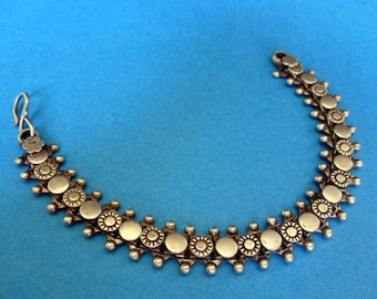 India  Ethnic Silver Bracelet