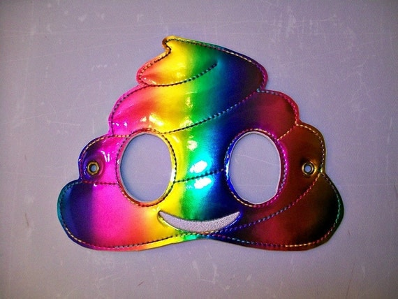 Emoji Rainbow Poop Kids Masquerade Masks