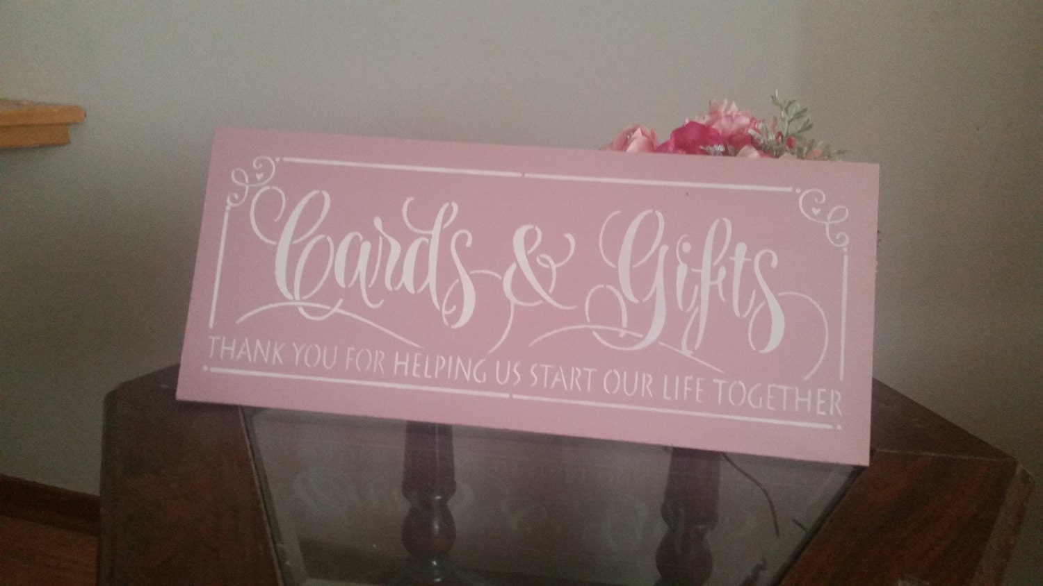 Wedding Gift Card Box Sign : Cards and gifts Sign wood Wedding Sign Card box sign photo