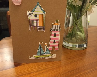 Handmade Seaside Card
