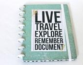 Ready to Ship Travel Journal Scrapbook Travel Photo Album Honeymoon Wedding Gift Birthday Gift Graduation Gift