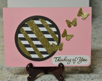 Blush & Gold Greeting Card
