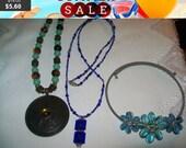 SALE 60% Off Vintage jewelry lot, Necklace Lot, vintage necklace lot