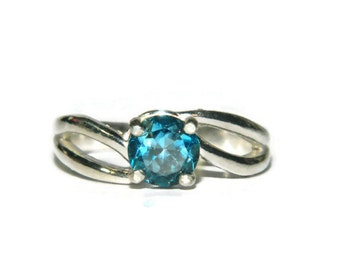 1 Carat London Blue Topaz Ring, Sterling Silver