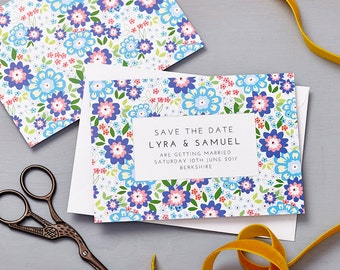 Ruby Shades of Blue Save The Date
