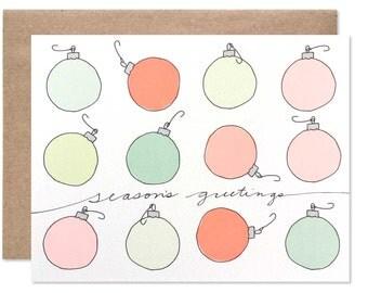 Season's Greeting Christmas Bulbs