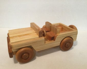 Handcrafted Wood Toy Jeep