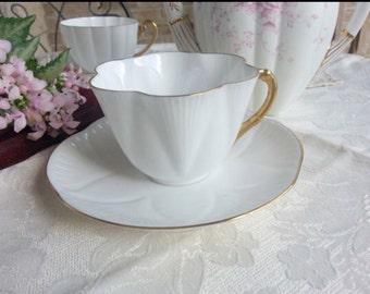 Shelley Tea Cup and Saucer Set Dainty Shape, Regency