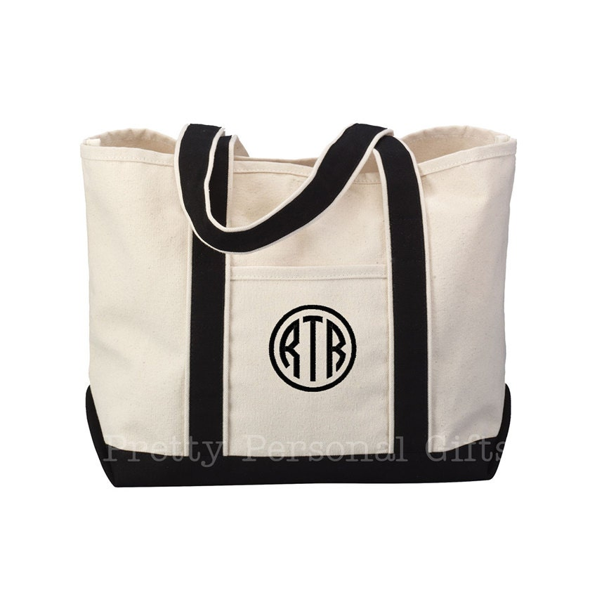 tote bag great teacher gift monogrammed personalized
