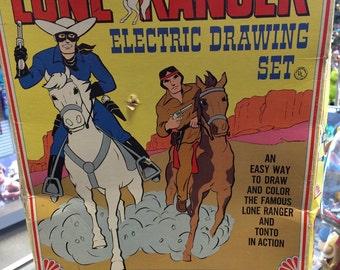 1968 Lone Ranger Electronic Drawing Set Light Table
