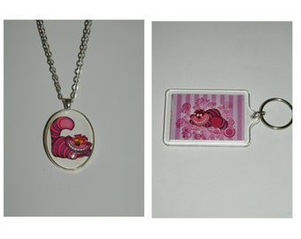 Alice in Wonderland Cheshire Cat Necklace and/ or  keychain
