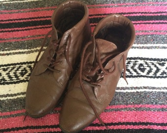 Vintage Brown Ankle Booties