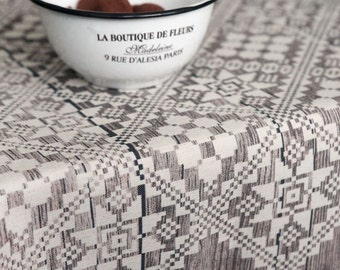 Tablecloth   Square Tablecloth   Table Cloth   Digital Printed   Rustic Wood  Brown White