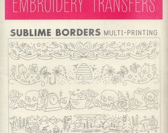Sublime Stitching Embroidery Patterns | Iron on Transfer Hand Embroidery Pattern - Border Embroidery Designs - Sublime Borders