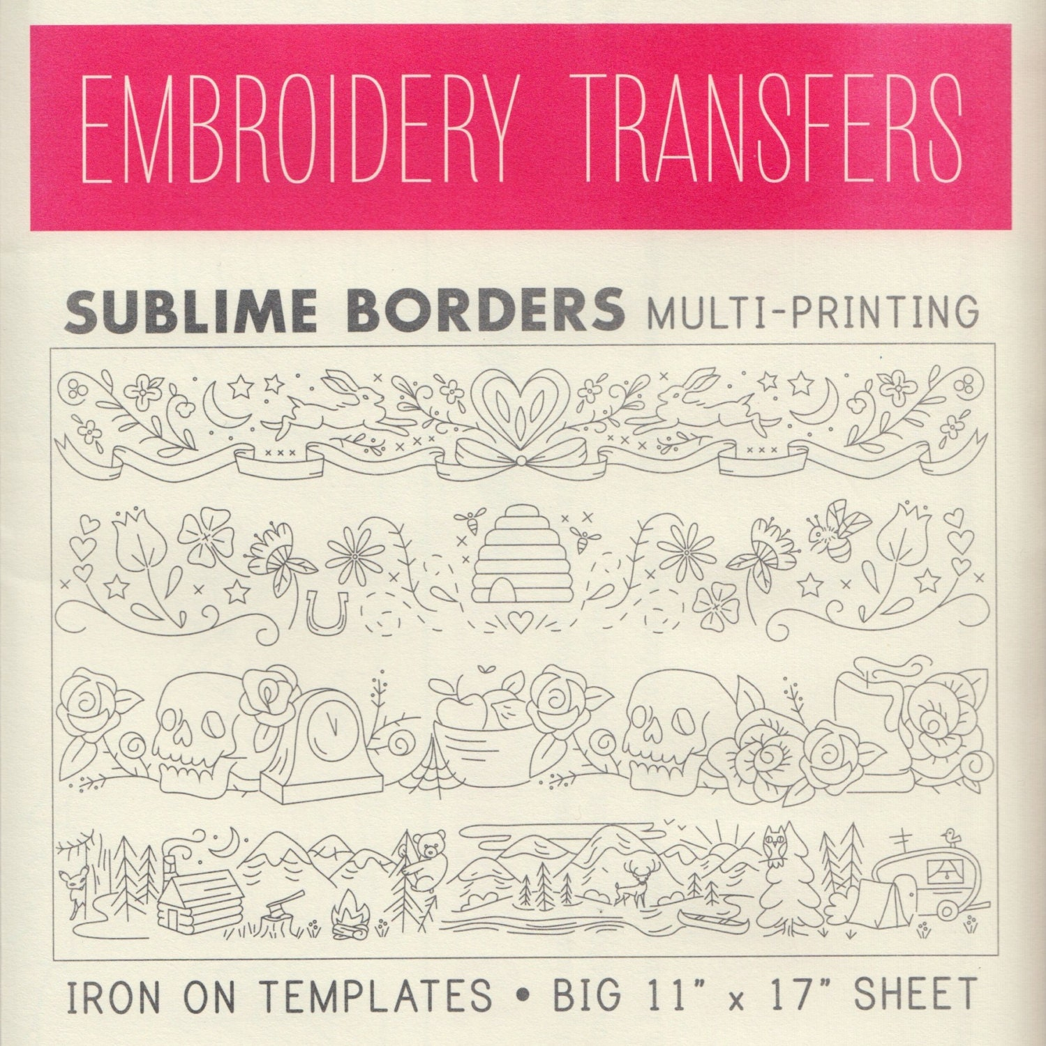 Sublime stitching embroidery patterns iron on transfer hand