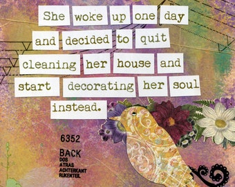 Inspirational Art Print - Decorate Her Soul - 1