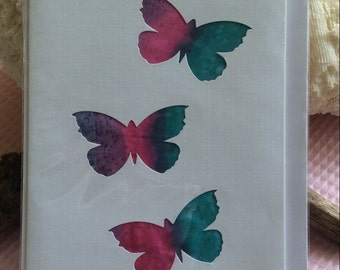 Butterfly silk card