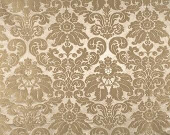 SCALAMANDRE GAUFRE Lotus Medallions SILK Damask Fabric 10 Yards Dove
