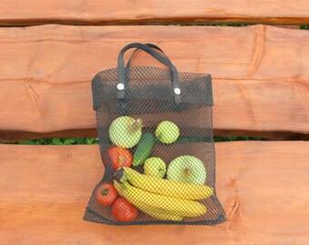 Soviet Vintage Shopping Bag, Retro Market Bag, Grocery Bag, Plastic Bag, Ussr Market Bag Collectibles, Vintage Tote Bag, Black Shopping Bag