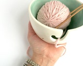 Petite Yarn Bowl Personalize with color Perfect Yarn Keeper Chic Small MADE TO ORDER