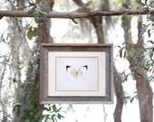 Gold leaf embellished fine art giclee with rustic barnwood frame