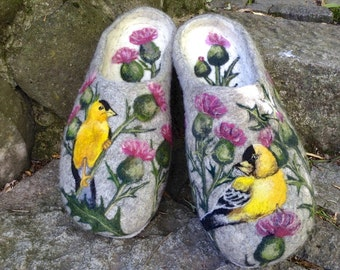 Felted Slippers - Spring MADE TO ORDER