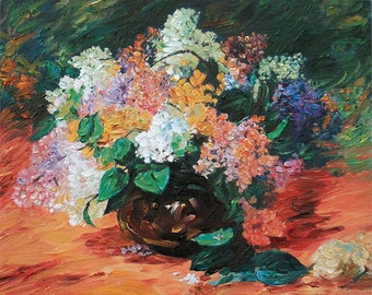 Oil Painting on Canvas - Mixed Flowers Still Life in Vase Miniature - Stretched & Ready to Frame