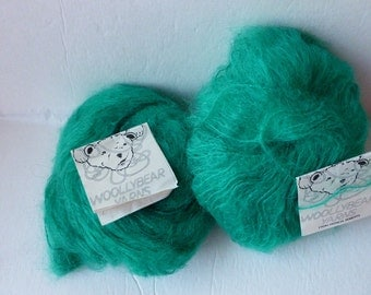Yarn Sale Green Woollybear Mohair from Patricia Roberts