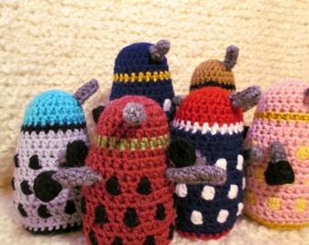 Dalek Plushie - Three Color Daleks