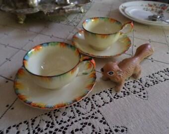 Super Rare Grindley England-Chameleon-Cup & Saucer Set-Coffee/Tea-Rainbow Colors