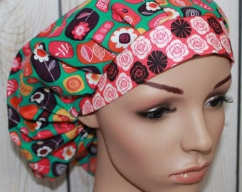 Beyond The Back Yard ,Bouffant Women's Scrub Hat, Surgical Scrub Hat, OR Nurses Scrub Hat, Scrub Cap