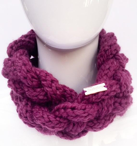 Braided Cowl Knitting Pattern : Braided Knit Scarf Knit Cowl Knit Infinity Scarf Knit Neck