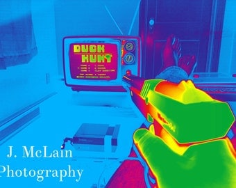 """Photography print - """"Duck Hunt, can't be beat - Infrared"""" Nintendo"""