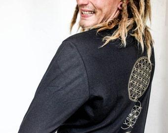 MENS Long Sleeved Double Printed Sacred Geo Top