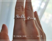 10% off // Font 39 // Personalized name ring - Any size - Yellow , White , Pink gold, Silver plated and Brass - Gift box included. Valentine