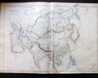 Blackie 1860 Antique Map. Asia