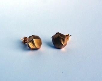 ROCKS EARRINGS - small golden rocks